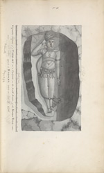 Colossal figure of Vishnu Narayana at Undavalli. 'Gigantic figure of Narrain in a cavern on the south banks of the Kistna River near [ ] opposite to Bazoara taken in 1796